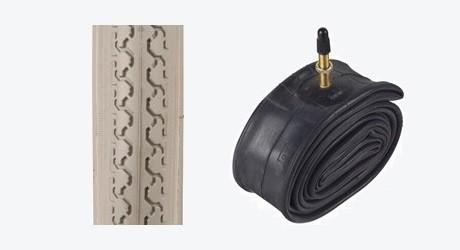 Däck och slang till lufthjul