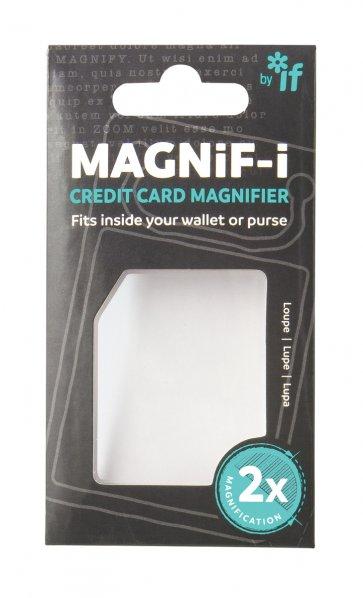 Kreditkortsförstoringsglaset är tillverkat av massiv akryl