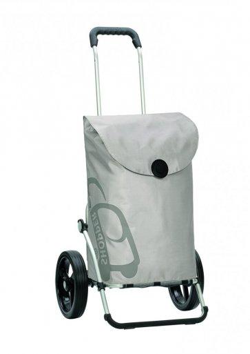 Här ses shoppingvagnen i silver.