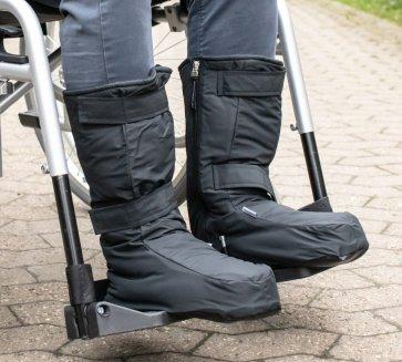 Varma stövlar till rullstolsanvändare