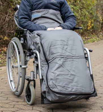 Køreposen dækker ben og noget af overkroppen