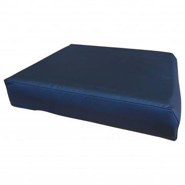 Tryckavlastande sittkudde i viskoselastisk skum, tvättbar, svart vattentätt överdrag, bra till stol och rullstol