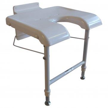 Väggmonterad badstol - stödben fram