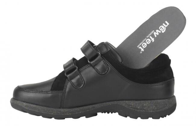 1cbd5f3e4bc New Feet sko i klassisk med töjbart skinn - extra bred
