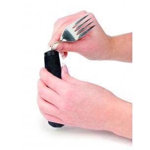 Skaftet är gjort i ett halksäkert material så den inte glider ur handen.