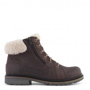 New Feet varm stövel i brunt kalvskinn