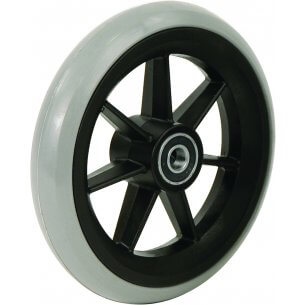 """8"""" gummihjul till framhjul på rullstol (200x27)"""