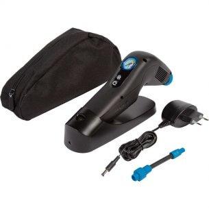 Batteridriven pump för rullstolsdäck med manometer