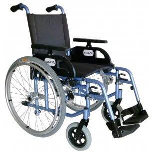 God letvægtskørestol med luftdæk