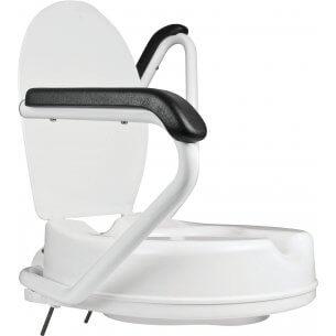 Toalettförhöjare med armstöd/stödgrepp