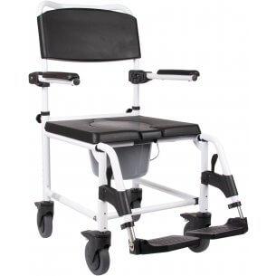 Bra hygienstol med hjul - kan också användas som badstol
