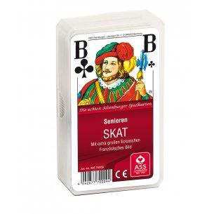 Tykke spillekort med ekstra store symboler