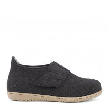 New Feet damtoffel i ull med hälkappa