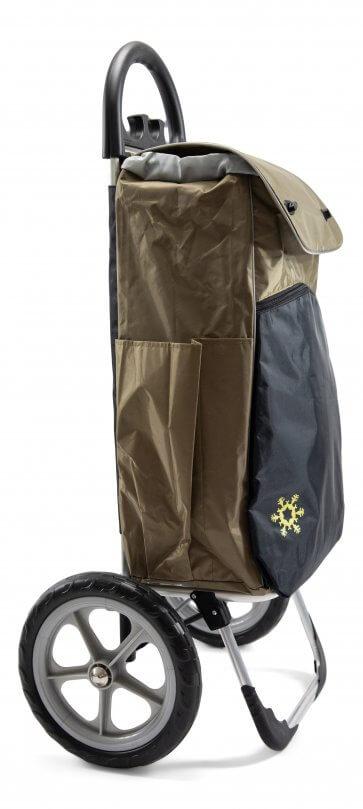 Väskan rymmer 55 liter.