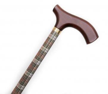 Käpp med skotskt mönster
