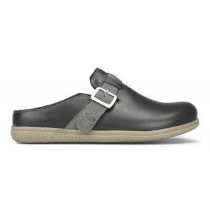 New Feet herrtoffel i blankt skinn