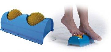 Fotrulle med två massagebollar