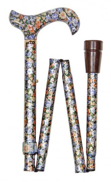 Resekäpp, lätt att fälla ihop, med mönster och derbygrepp