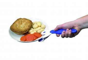 Håndtag til tallerken, gør det nemt at løfte varme tallerkner, aflaster håndled og er god til ældre eller personer med gigt