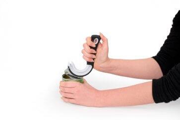 Burköppnare, bra för äldre och personer med artrit, används till konserver och andra burkar med en ring