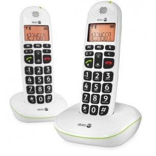 Bra, trådlös hemtelefon till äldre - paketen innehåller 2 telefoner