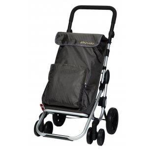 Trolley til indkøb i sort