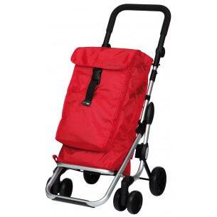 Robust shoppingvagn med svängbara framhjul, hopfällbar