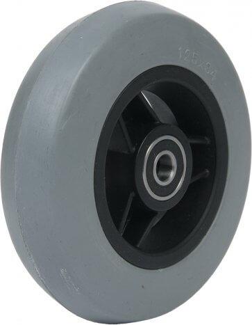 """5"""" gummihjul till framhjul på rullstol (125x34)"""