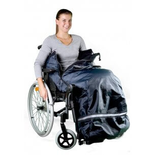 Åkpåse/fotsäck för rullstol (finns i 3 storlekar)