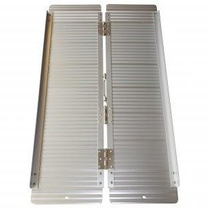 Rullstolsramp i aluminium, hopfällbar, finns i fyra längder