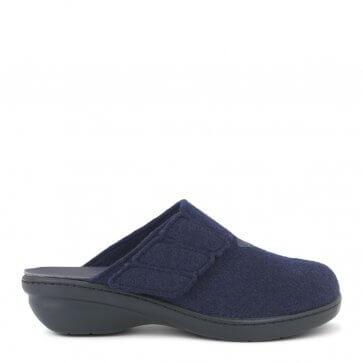 New Feet damtoffel i ull med liten klack och utan hälkappa