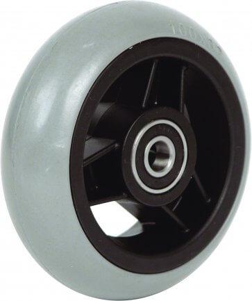 """4"""" gummihjul till framhjul på rullstol (100x26)"""
