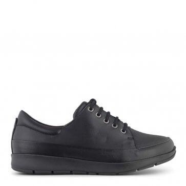 New Feet klassisk sort snørresko