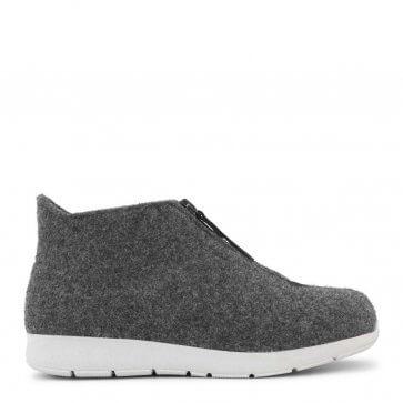 New Feet innesko med ull och kort skaft (grå)