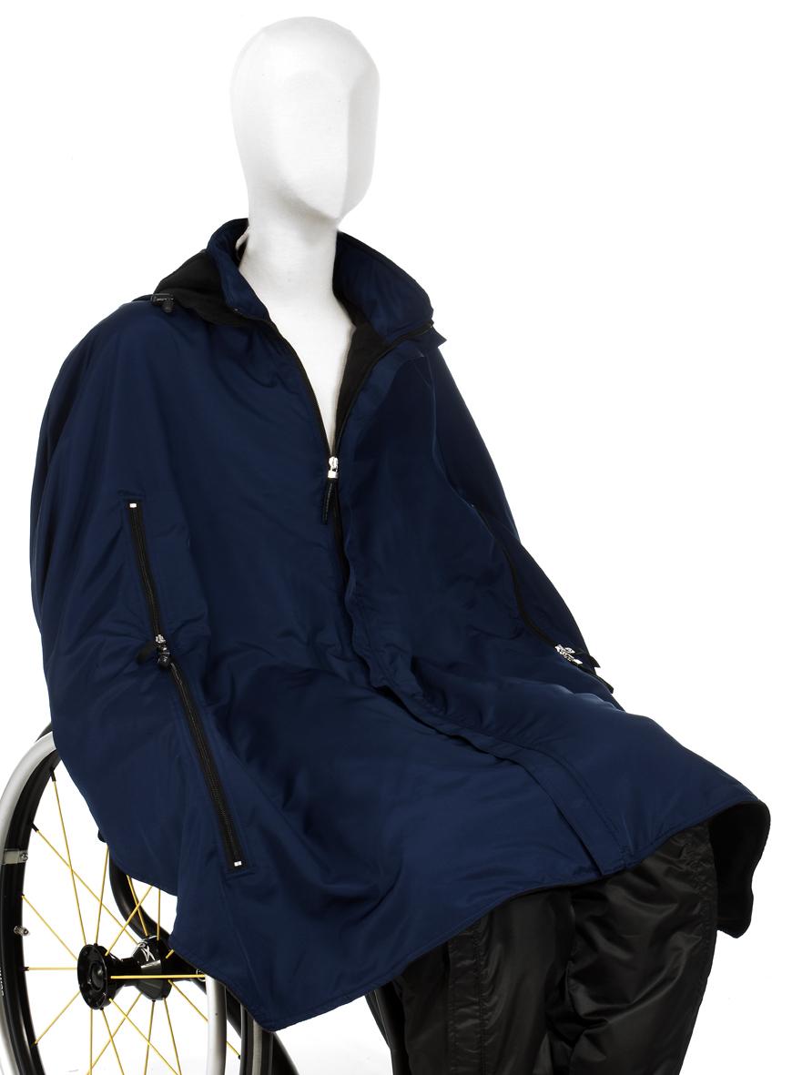 Cape till rullstolsanvändare (vinterversion)